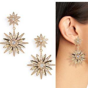 Stella + Ruby, Double Star Statement Earrings